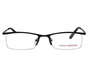 Half Rim Metal Rectangle Black Medium Vision Express 28875 Eyeglasses