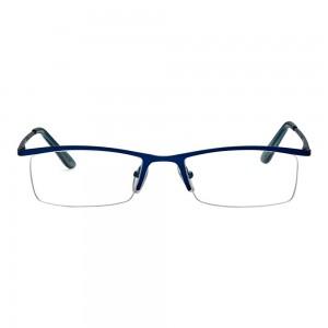 Half Rim Metal Rectangle Blue Medium Vision Express 28875 Eyeglasses