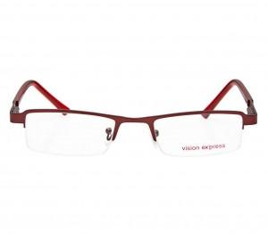 Half Rim Metal Rectangle Wine Medium Vision Express 48795 Eyeglasses