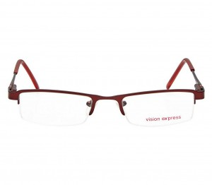 Half Rim Metal Rectangle Wine Small Vision Express 48796 Eyeglasses