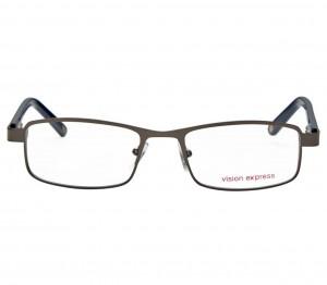 Full Rim Metal Rectangle Gun Metal Medium Vision Express 28930 Eyeglasses