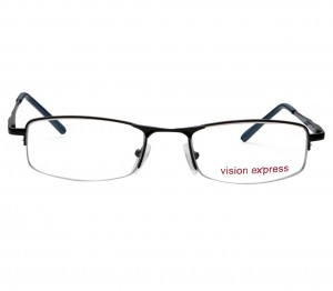 Half Rim Metal Rectangle Black Medium Vision Express 11922 Eyeglasses