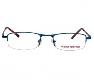Half Rim Metal Rectangle Blue Medium Vision Express 11922 Eyeglasses