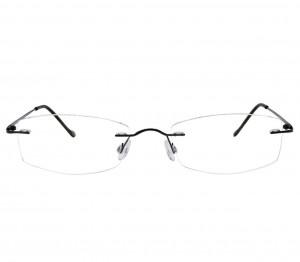 Rimless Titanium Rectangle Gun Metal Medium Vision Express 11915 Eyeglasses
