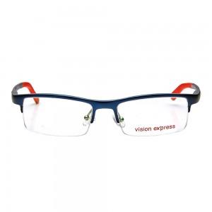 Half Rim Metal Wrap Blue Medium Vision Express 28957 Eyeglasses