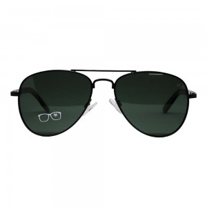 Aviator Polarised Lens Green Full Rim Large Vision Express 21327P Sunglasses