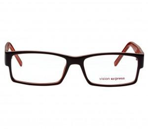 Full Rim Polycarbonate Rectangle Brown Large Vision Express 28971 Eyeglasses