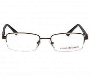 Half Rim Metal Oval Gun Metal Medium Vision Express 11957 Eyeglasses
