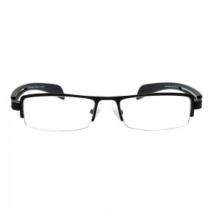 Half Rim Metal Wrap Black Medium Vision Express 29136 Eyeglasses