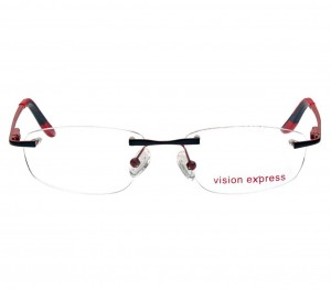 Rimless Metal Oval Black Medium Vision Express 29139 Eyeglasses