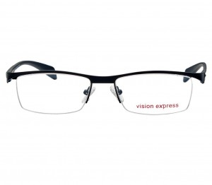 Half Rim Metal Wrap Black Large Vision Express 29149 Eyeglasses