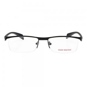 Half Rim Metal Wrap Black Large Vision Express 29149 Eyeglasses