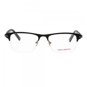 Half Rim Metal Rectangle Black Medium Vision Express 29151 Eyeglasses