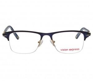 Half Rim Metal Rectangle Blue Medium Vision Express 29151 Eyeglasses