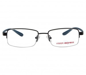 Half Rim Metal Rectangle Black Medium Vision Express 29021 Eyeglasses