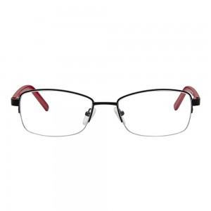 Half Rim Metal Rectangle Black Medium Vision Express 29021 Eyeglasses