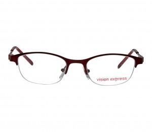 Half Rim Metal Oval Wine Small Vision Express 48944 Eyeglasses