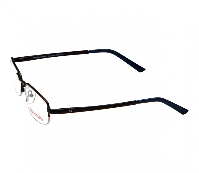 Full Rim Metal Rectangle Black Medium Vision Express 12004 Eyeglasses