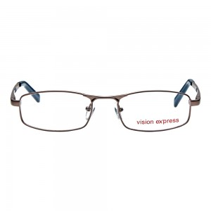 Full Rim Metal Rectangle Gun Metal Medium Vision Express 12004 Eyeglasses