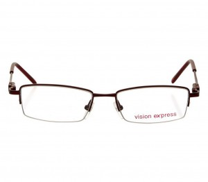 Half Rim Metal Rectangle Wine Medium Vision Express 48945 Eyeglasses