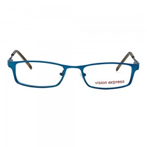 Half Rim Metal Rectangle Blue Medium Vision Express 29164 Eyeglasses