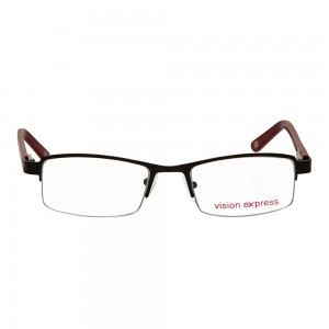 Half Rim Metal Rectangle Black Medium Vision Express 28930 Eyeglasses