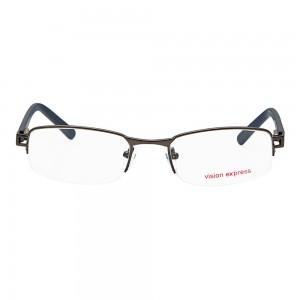 Half Rim Metal Oval Gun Metal Medium Vision Express 28616 Eyeglasses