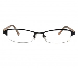 Half Rim Metal Rectangle Black Medium Vision Express 48893 Eyeglasses