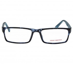 Full Rim Polycarbonate Rectangle Blue Medium Vision Express 29166 Eyeglasses
