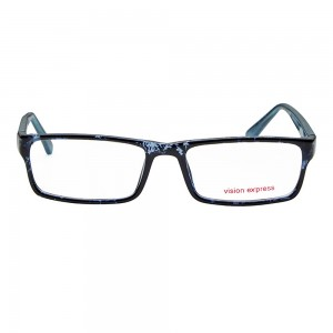 Full Rim Polycarbonate Rectangle Blue Medium Vision Express 29166 Eyeglasses