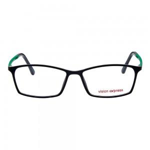 Full Rim Ultem Rectangle Black Medium Vision Express 29280 Eyeglasses