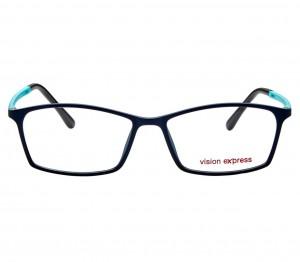 Full Rim Ultem Rectangle Blue Medium Vision Express 29280 Eyeglasses