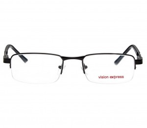 Half Rim Metal Rectangle Black Medium Vision Express 29306 Eyeglasses