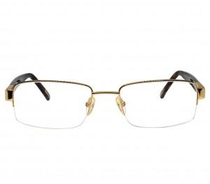 Half Rim Gold Plated Square Gold Medium Vision Express 12017 Eyeglasses