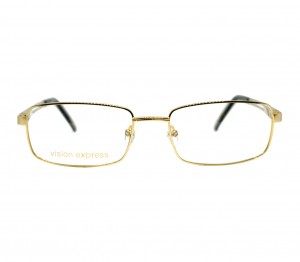 Full Rim Gold Plated Square Gold Medium Vision Express 12018 Eyeglasses
