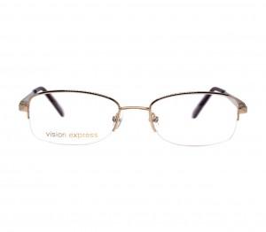 Half Rim Gold Plated Rectangle Gold Medium Vision Express 31602 Eyeglasses