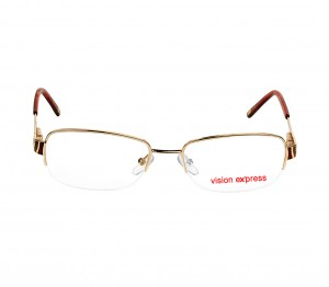 Half Rim Metal Oval Gold Medium Vision Express VEF44 Eyeglasses