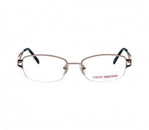 Half Rim Metal Oval Gold Medium Vision Express VEF43 Eyeglasses