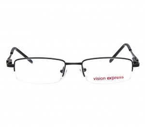 Half Rim Metal Rectangle Black Medium Vision Express 48945 Eyeglasses