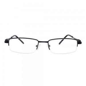 Half Rim Metal Rectangle Black Medium Vision Express 48945 Eyeglasses
