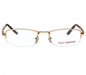 Half Rim Metal Rectangle Gold Medium Vision Express 12004 Eyeglasses