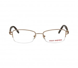 Half Rim Metal Rectangle Gold Medium Vision Express 31577 Eyeglasses