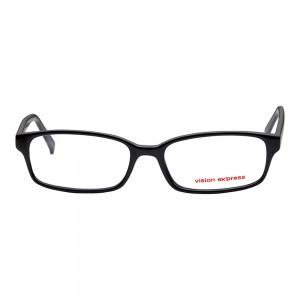 Full Rim Polycarbonate Rectangle Black Medium Vision Express 28975 Eyeglasses