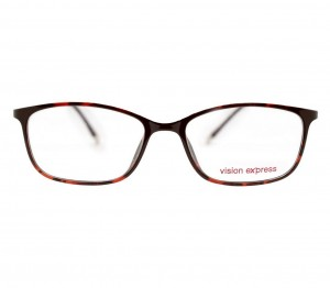 Full Rim Ultem Square Brown Medium Vision Express 49015 Eyeglasses