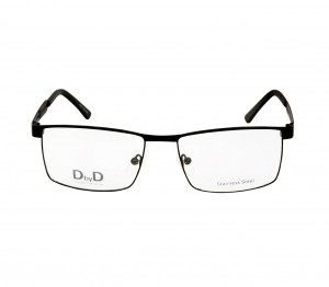 Full Rim Stainless Steel Rectangle Black Large DbyD DBAM25 Eyeglasses
