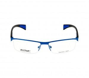 Full Rim Stainless Steel Rectangle Blue Large Activ ACH28 Eyeglasses