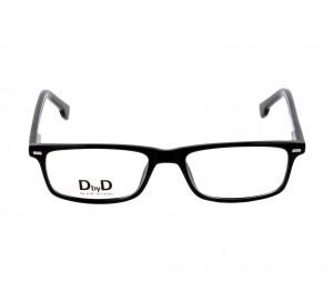 Full Rim Acetate Rectangle Black Medium DbyD DYH04 Eyeglasses