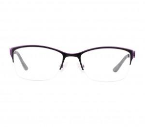 Half Rim Stainless Steel Almond Black Women Small In Style ISAF27 Eyeglasses