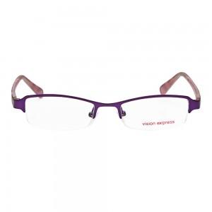 Half Rim Metal Rectangle Purple Medium Vision Express 48893 Eyeglasses