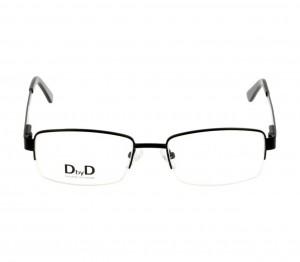 Half Rim Monel Rectangle Black Medium DbyD DBBM10 Eyeglasses